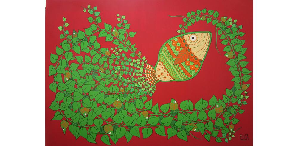 pez en rojo